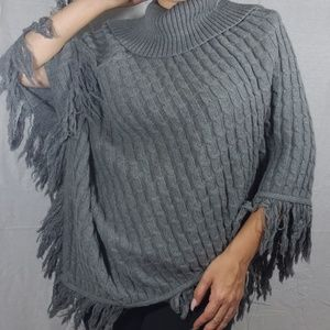 Jaclyn Smith Knitted Poncho
